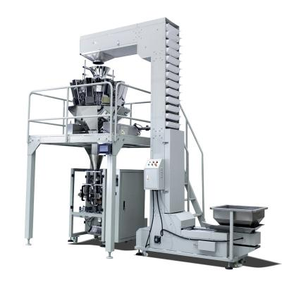 Multihead weigher automatic Puffed Food Shrimp Chips Packaging Machine