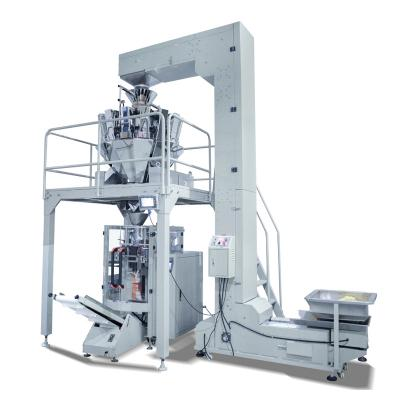 Vertical automatic multihead weigher Granule niblets peanuts beans popcorns packaging machine