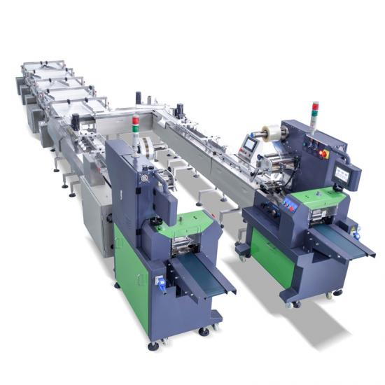 High efficiency automatic Swiss rolls Biscuit Bread Packaging Line Machine