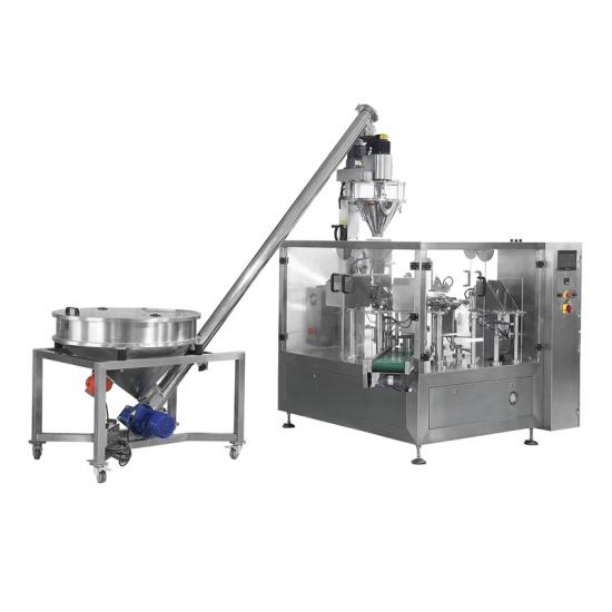 Automatic High accuracy Rotary Spices Glucose Cornstarch Chicken Powder packaging machine