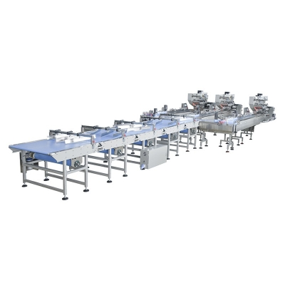 Automatic food Biscuit Cookie Waffle Bread packing line