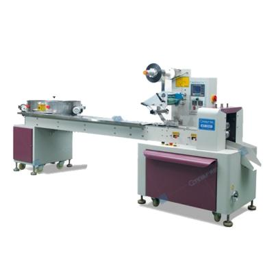Automatic flow type nougat snack cotton candy pillow horizontal wrapping packaging machine