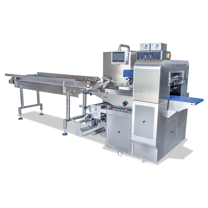 Lettuce packaging machine working video VT-330