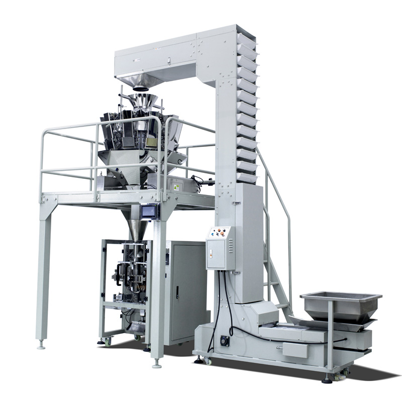 potato chips puffed food packaging machine working video ZV-420A
